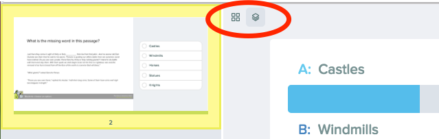 Multiple choice lit pasasge grid in dashboard, red circle layout options (2)
