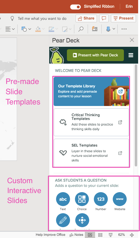 Ppt sidebar, slide templates and custom interactive slides, highlighted