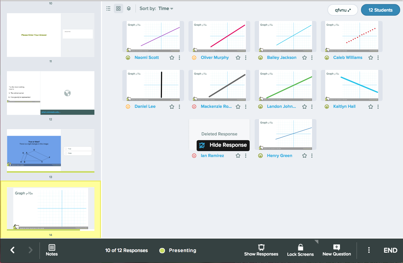 Drawing, graph, grid in dashboard + hide response (2)