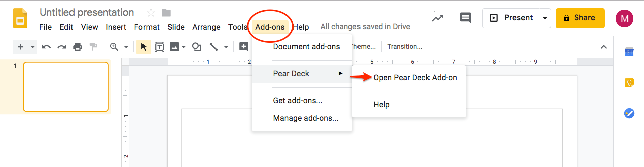 How to create a New Pear Deck Lesson